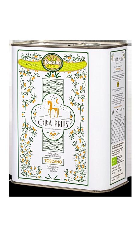 IGP Toscano Organic EVOO In recycled metal tins 2x2000 ml