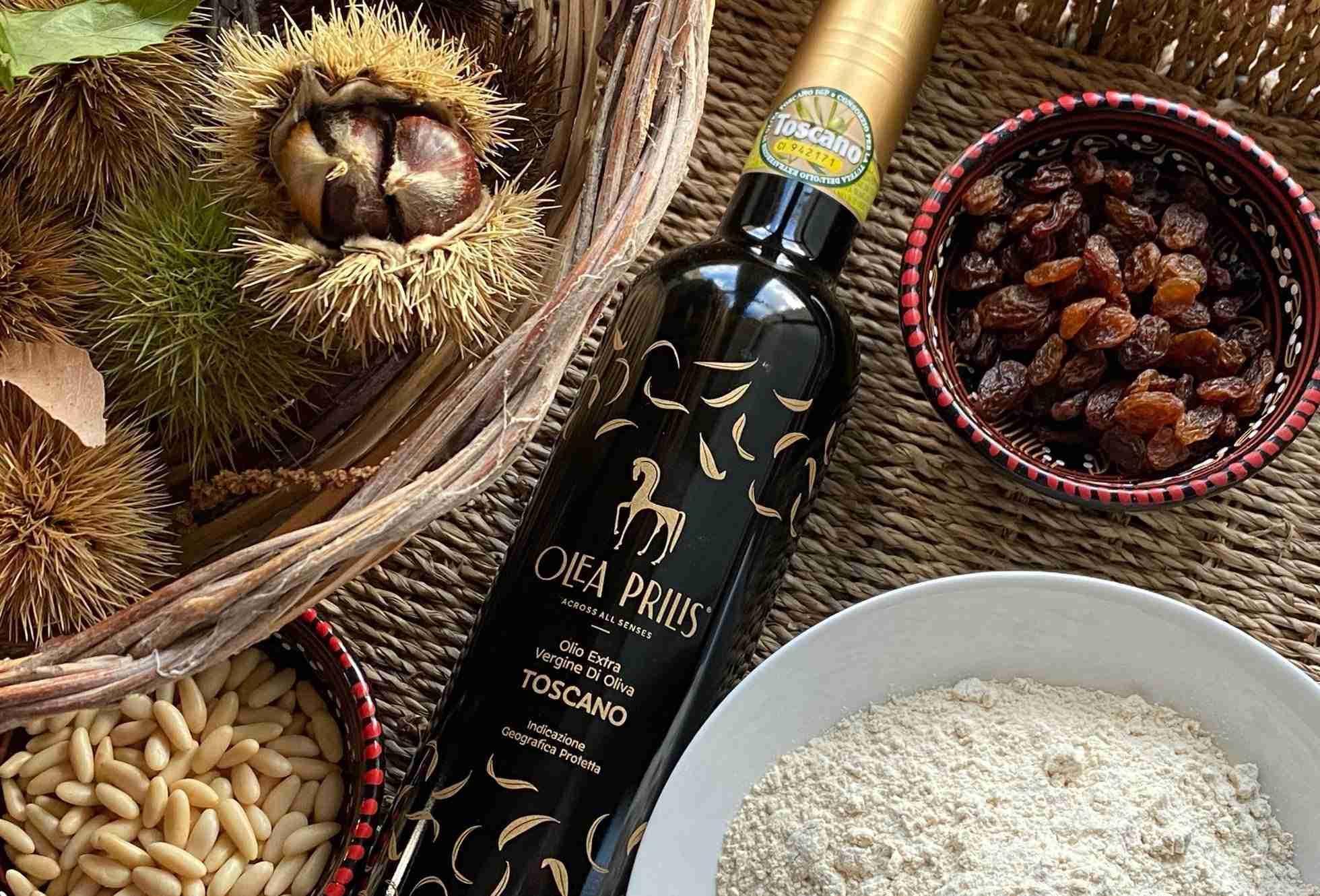 Castagnaccio - Dessert typique toscan à l'huile d'olive et farine de châtaigneOlea Prilis